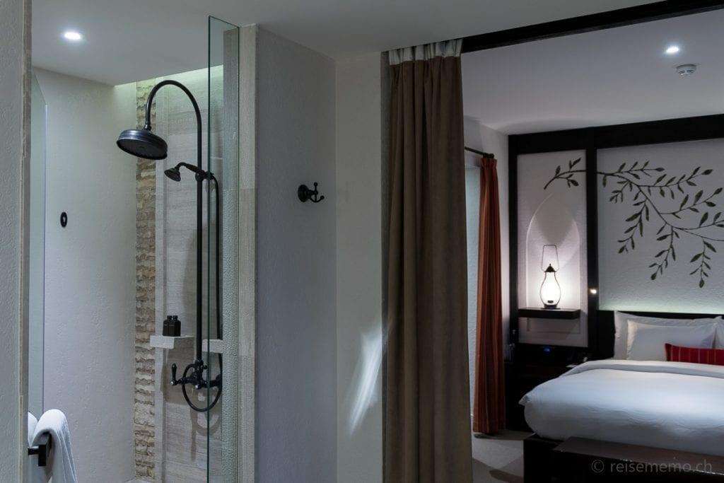 Duschköpfe im Hotelzimmer im Alila Jabal Akhdar