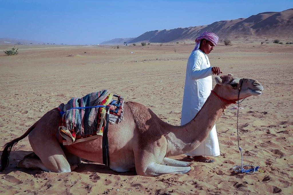Kamelritt im Desert Nights Camp Wahiba Sands