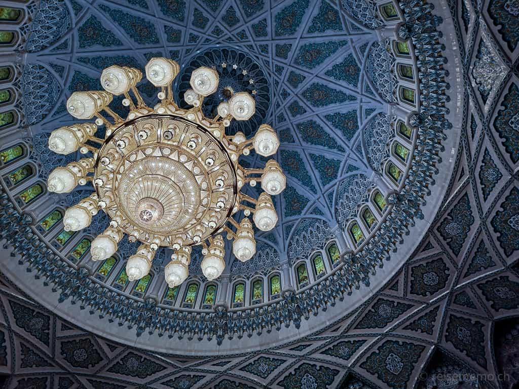 Svarowsky-Kronleuchter der Sultan Qaboos Moschee