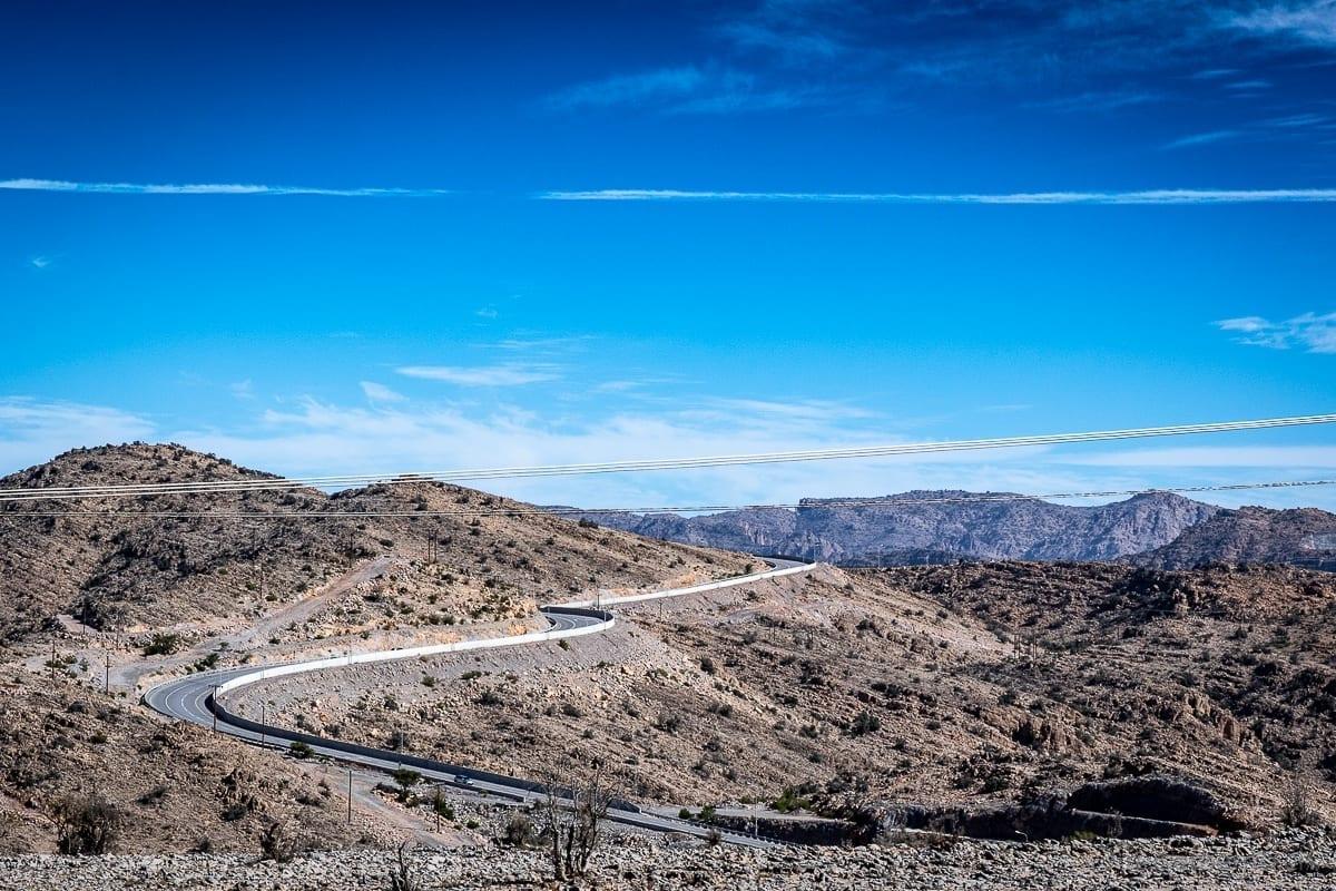 Kurvige Landstrasse zum Alila Jabal Akhdar