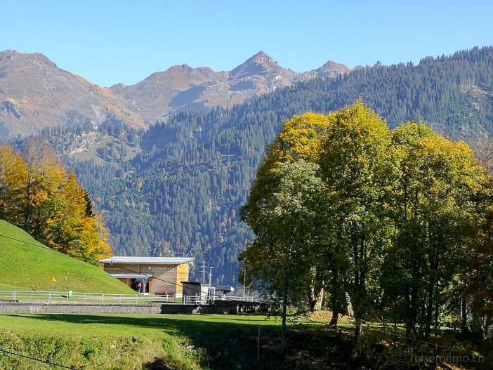 Bergstation der Luftseilbahn Luchsingen-Brunnenberg