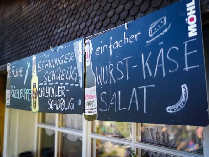 Menuauswahl im Restaurant Bächialp