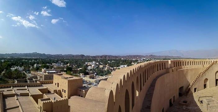 Aussicht auf Nizwa vom Turm des Forts