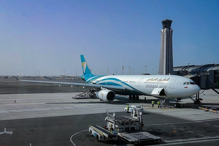 Dreamliner 777 in Airport Muscat