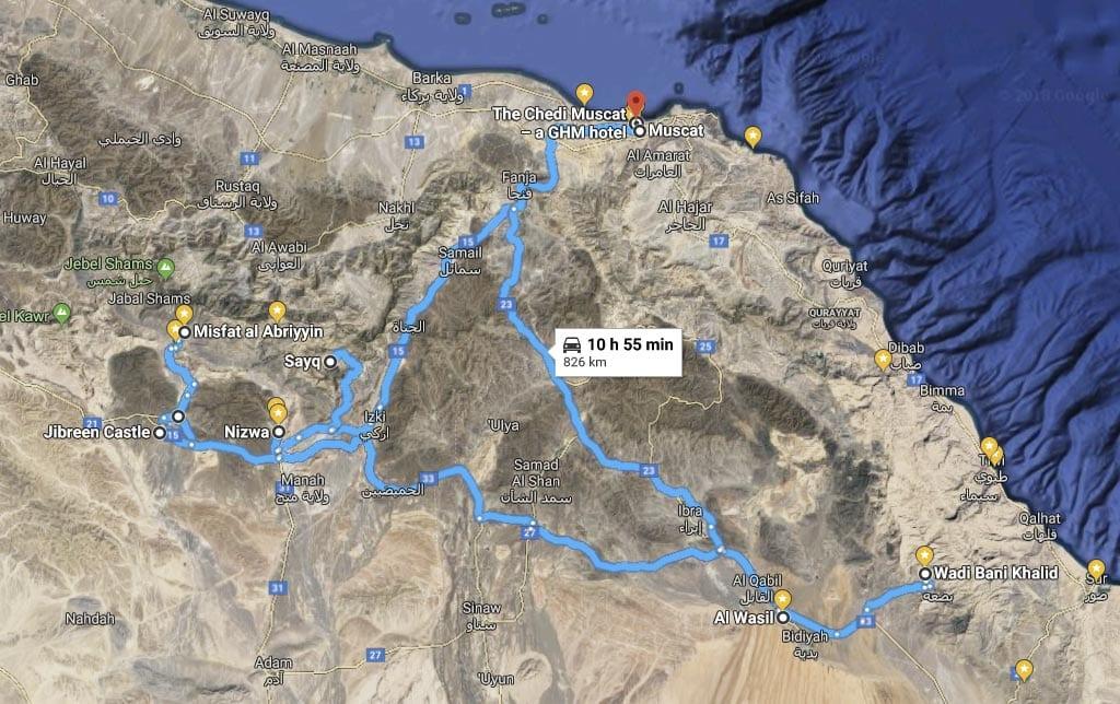 Oman-Roadtrip von Muscat via Nizwa und Al Wasil nach Muscat