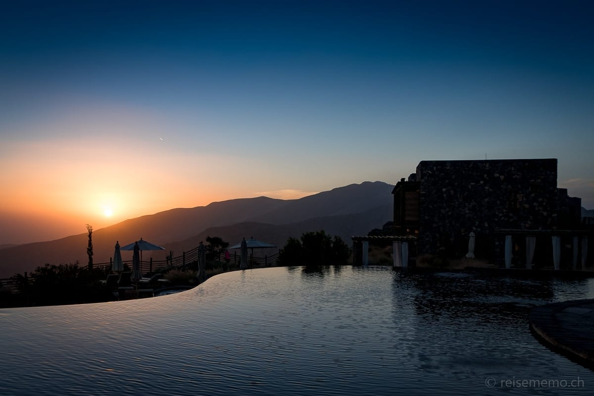 Sonnenuntergang Alila Jabal Akhdar