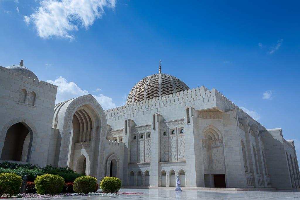 Perspektive der Sultan Qaboos Moschee