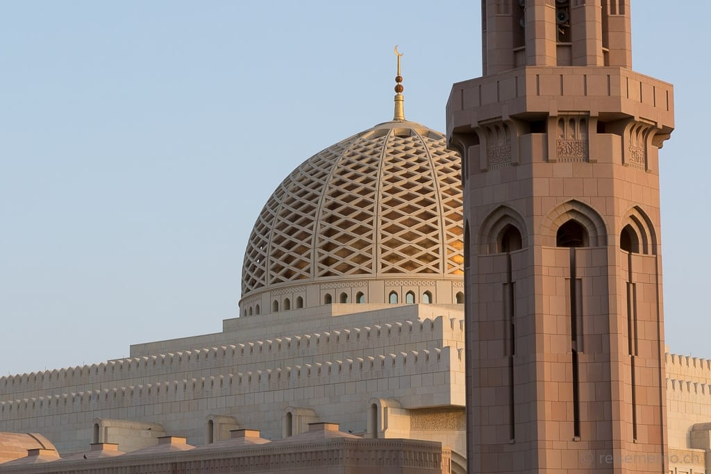 Kuppel der Sultan Qaboos Moschee Muscat