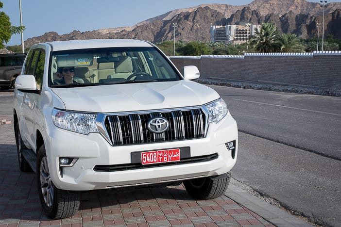 Toyota Prado SUV at Al Bustan Palace in Muscat