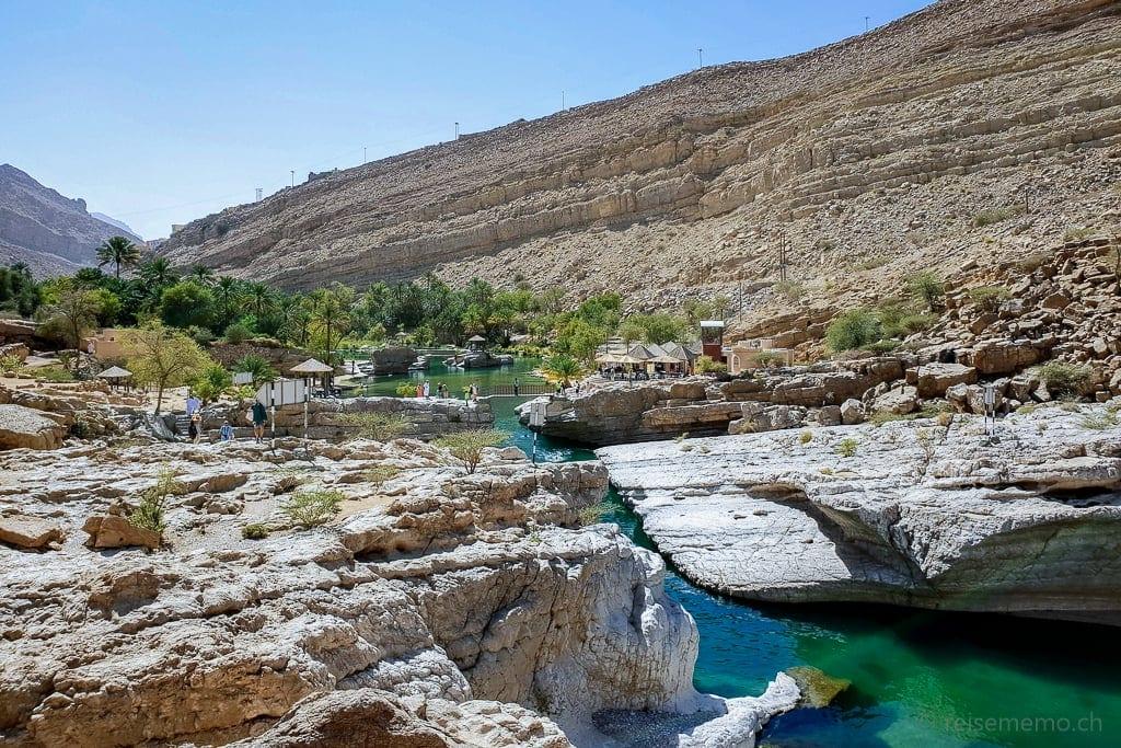 Flusslauf im Wadi Bani Khalid