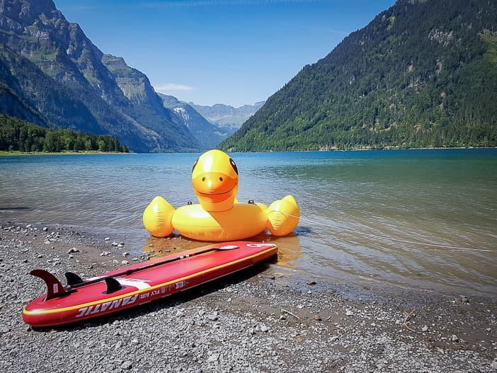 Wassersport am Klöntalersee