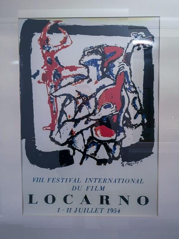 Plakat vom 8. Filmfestival Locarno von 1954