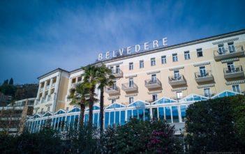 Südfassade des Hotel Belvedere Locarno