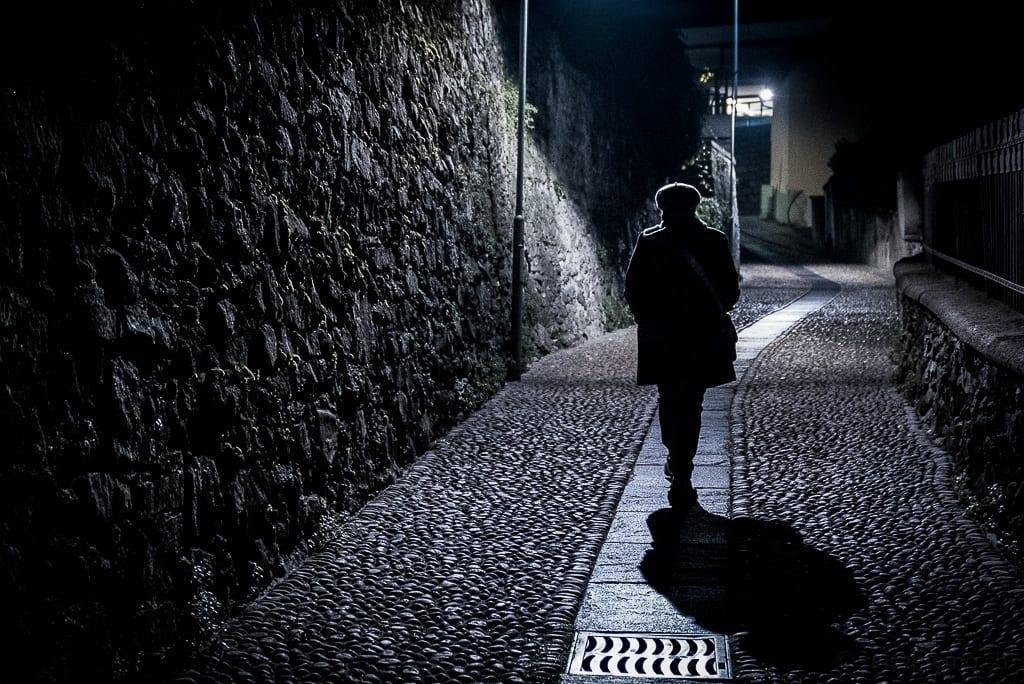 Katja auf dem Heimweg von Locarno ins Hotel Belvedere