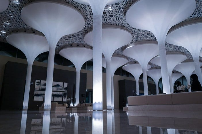 Kempinski Muscat Hotellobby nachts