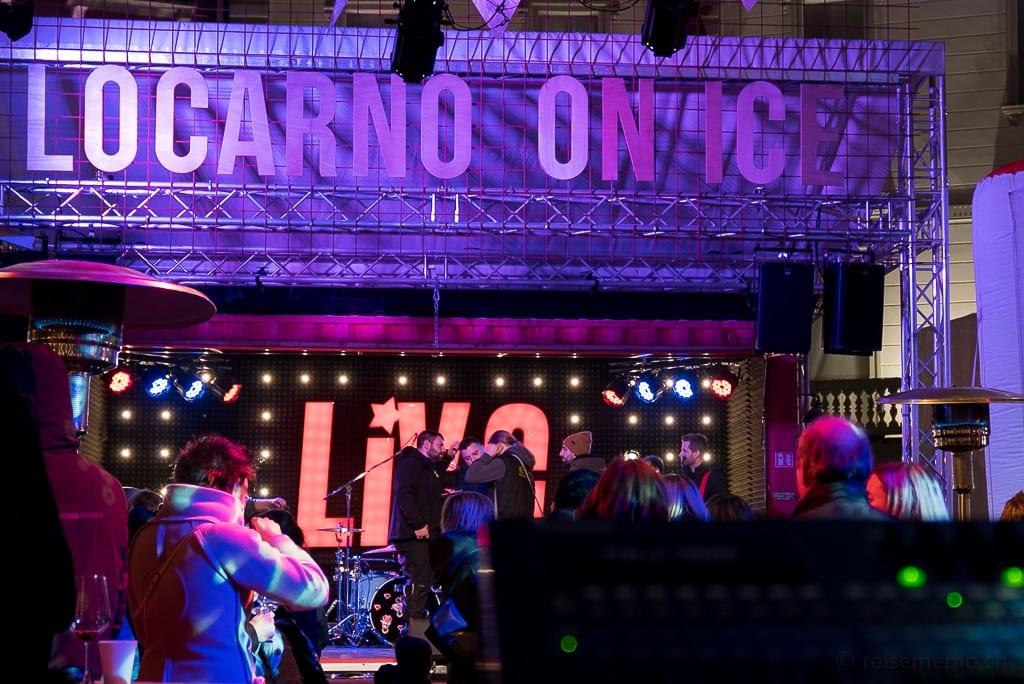 Konzertbühne von Locarno on Ice