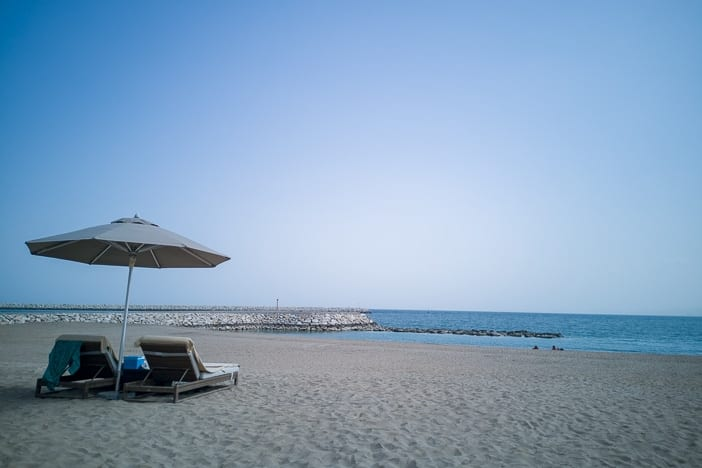 Strand beim Kempinski Al Mouj in Muscat