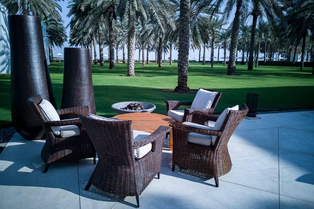 Lounge im Chedi Muscat Garten