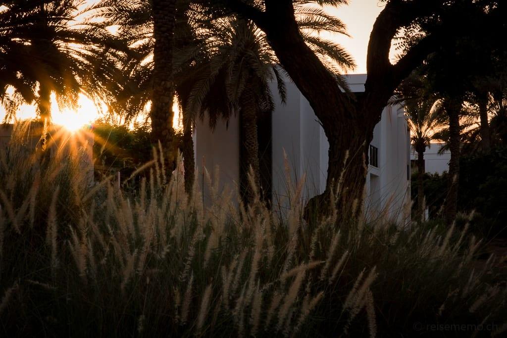 Sonnenuntergang im Chedi Muscat