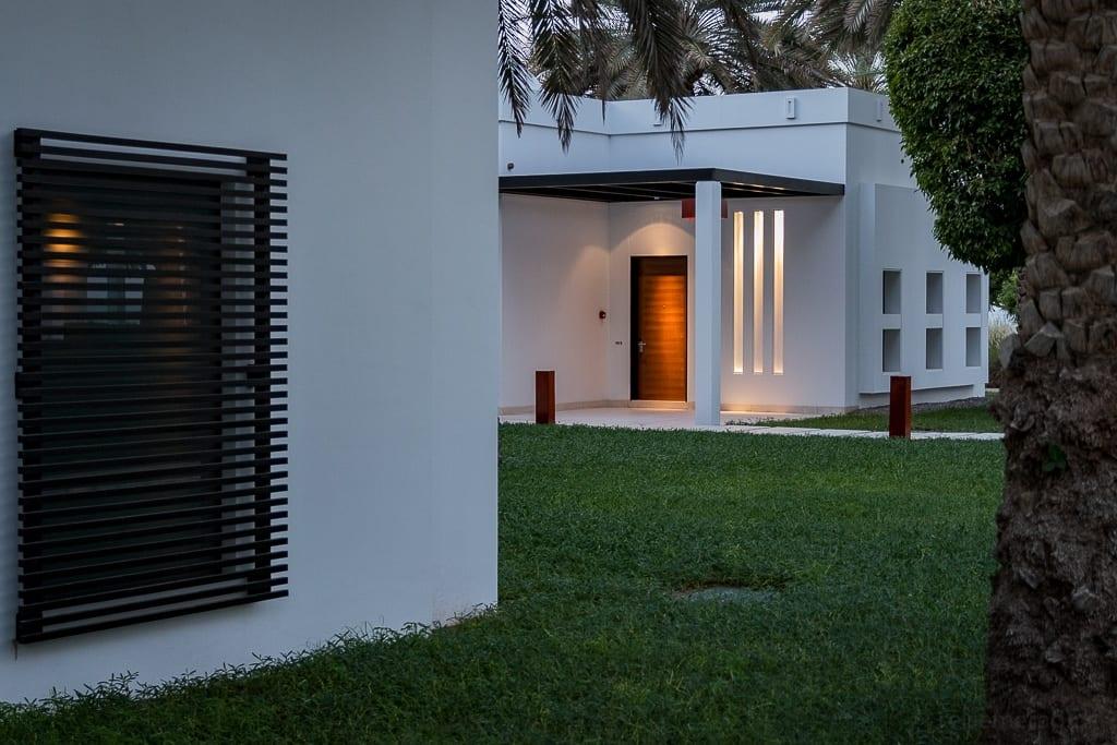 Gartenanlage im Chedi Muscat Hotel