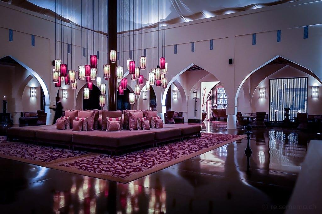 Lobby im Chedi Muscat Hotel