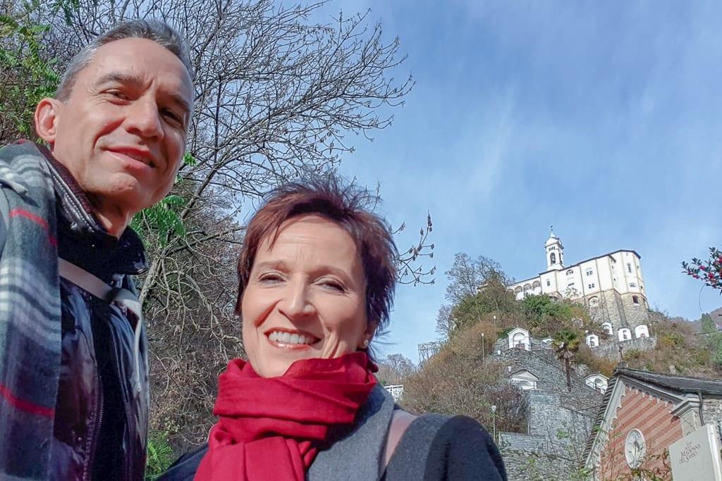 Walter und Katja bei Madonna del Sasso
