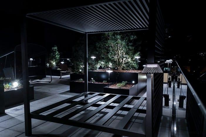 Baldachin auf der Dachterrasse des a-ja City-Resorts Zürich-Altstetten