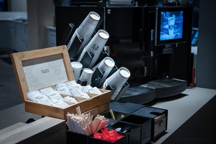 Starbucks Kaffee und Tazo Tee im a-ja Resort Zürich