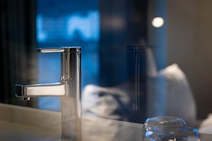 Wasserhahn im Superior Zimmer des a-ja City-Resorts Zürich