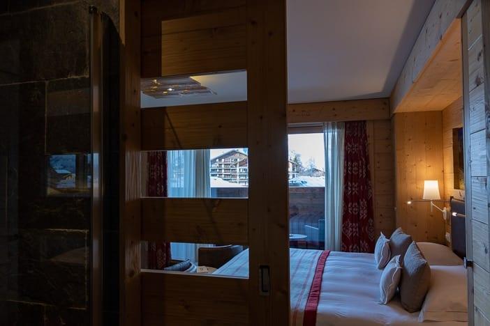 Schiebetüre Hotelzimmer Hôtel Nendaz 4 Vallées & Spa