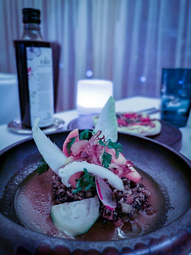 Vorspeise im Restaurant Le clos des cimes