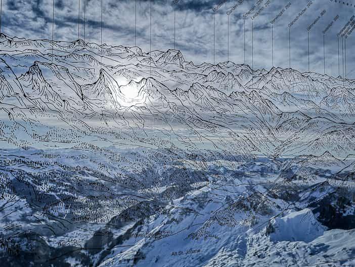 Bergpanorama vom Säntis aus gesehen
