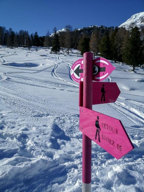 Winterwanderung bei Siviez 4 Vallées