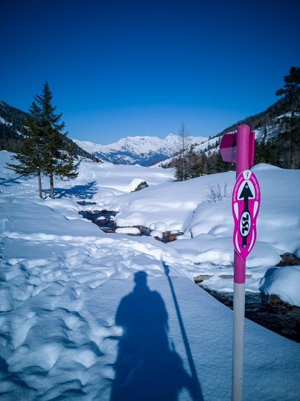Winterwanderung bei Siviez