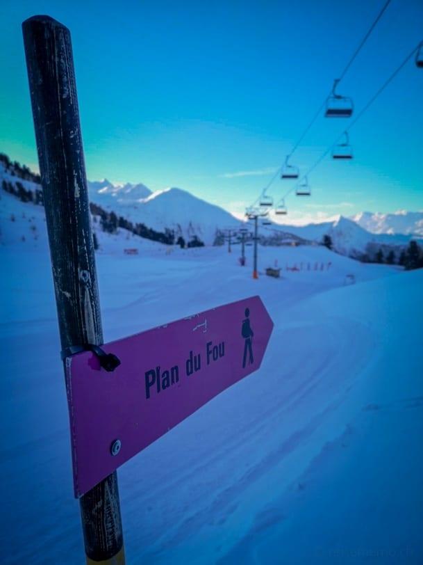 Winterwanderung zum Plan du Fou