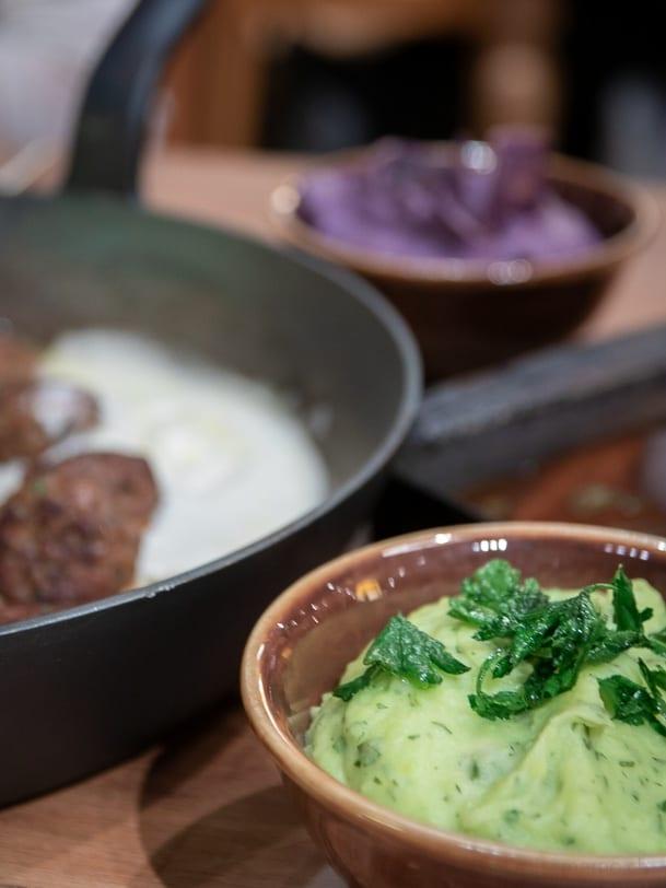 Kartoffelstock mit Kräutern