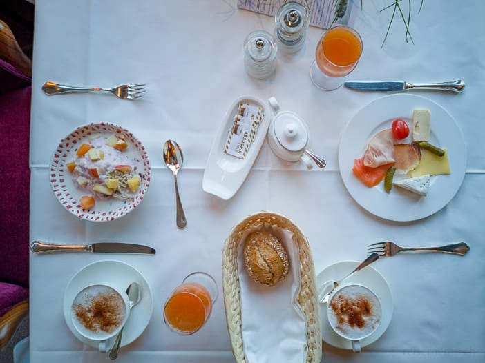 Frühstück im Restaurant Marée