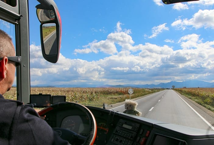 Busfahrer in Rumänien