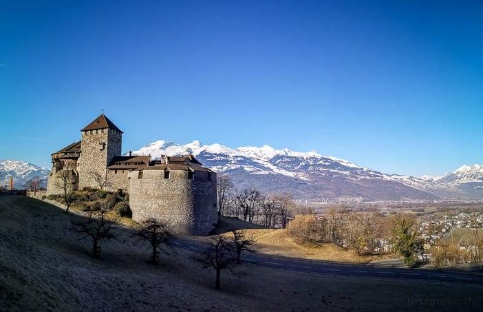 Schloss Vaduz nach dem Sonnenaufgang