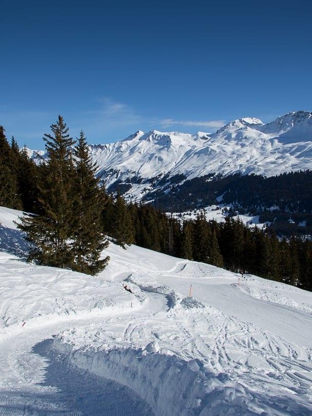 Tgantieni Höhenweg in Richtung Valbella