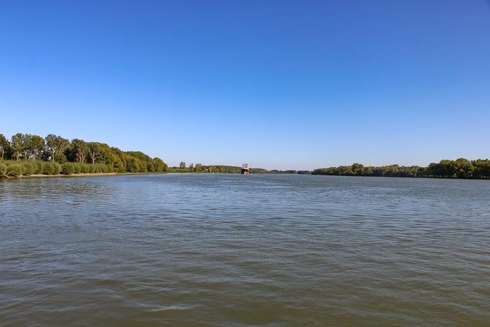Frachtschiff Donaudelta