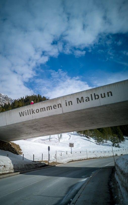 Dorfeingang von Malbun