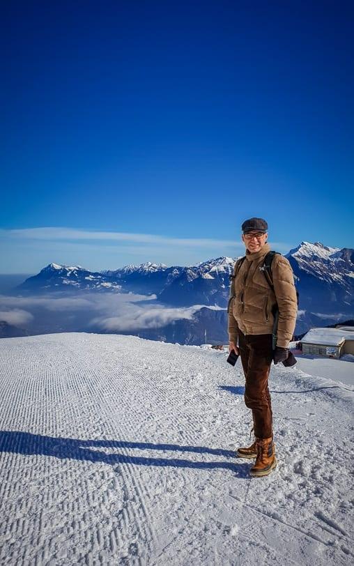 Walter auf dem Panorama Höhenweg