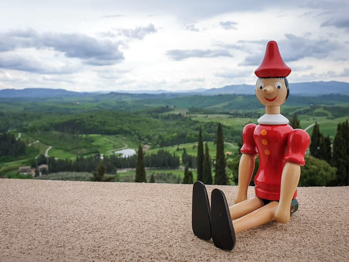 Pinocchio in der Toskana