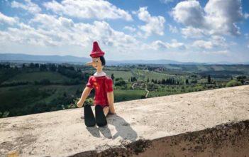 Pinocchio in seiner Heimat Toskana