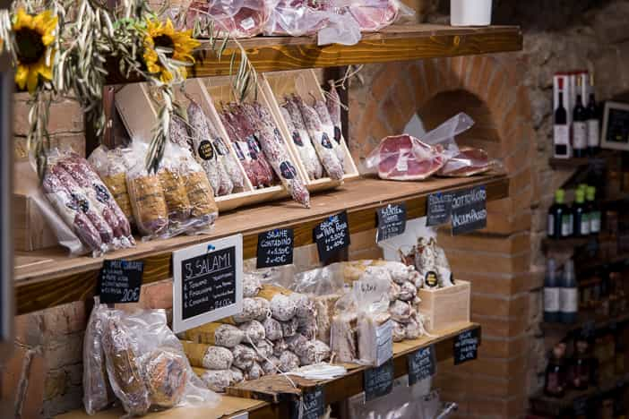 Delikatessenshop in San Gimignano
