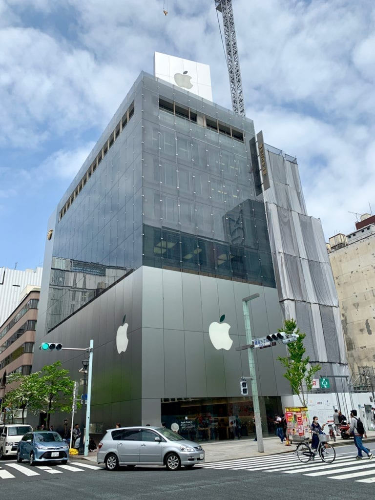 Apple Stores in Ginza Tokyo