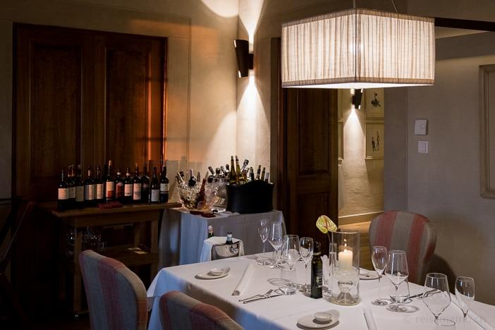 Elegantes Ambiente im Gourmet-Restaurant La Rocca