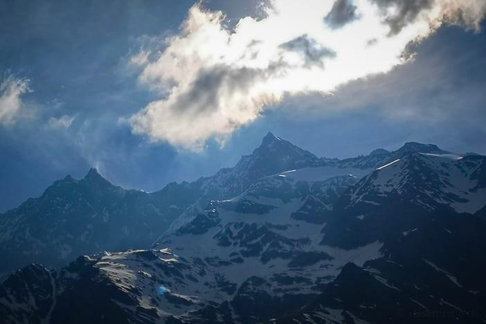 Dom bei Saas-Fee, der höchste Berg der Schweiz