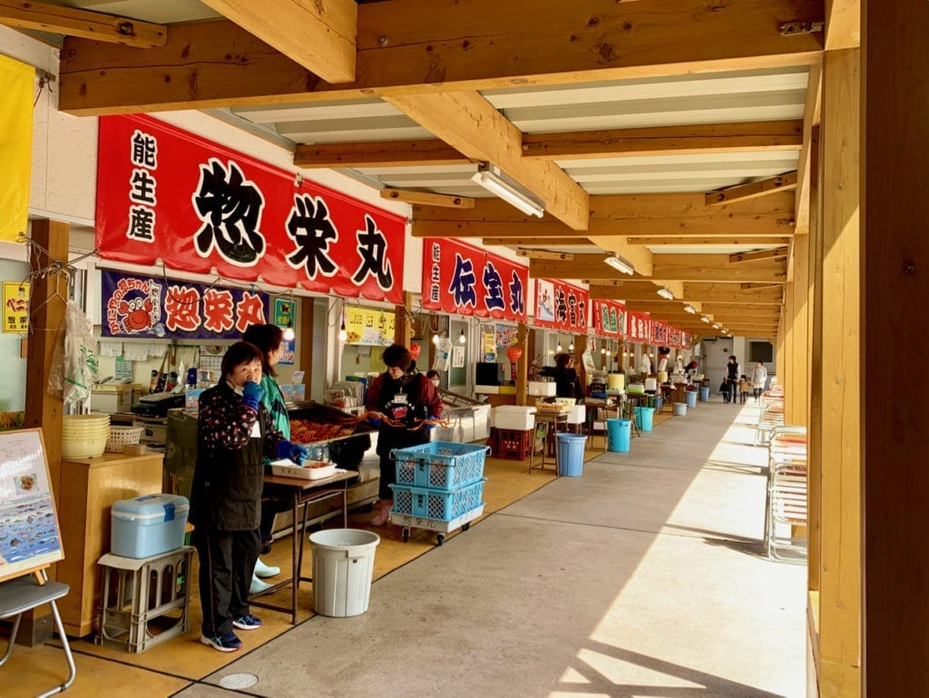 Frische Krebse in Itoigawa
